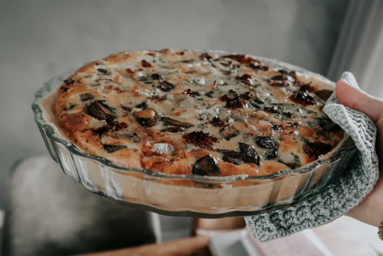 Recept: Hartige quiche met blauwe kaas