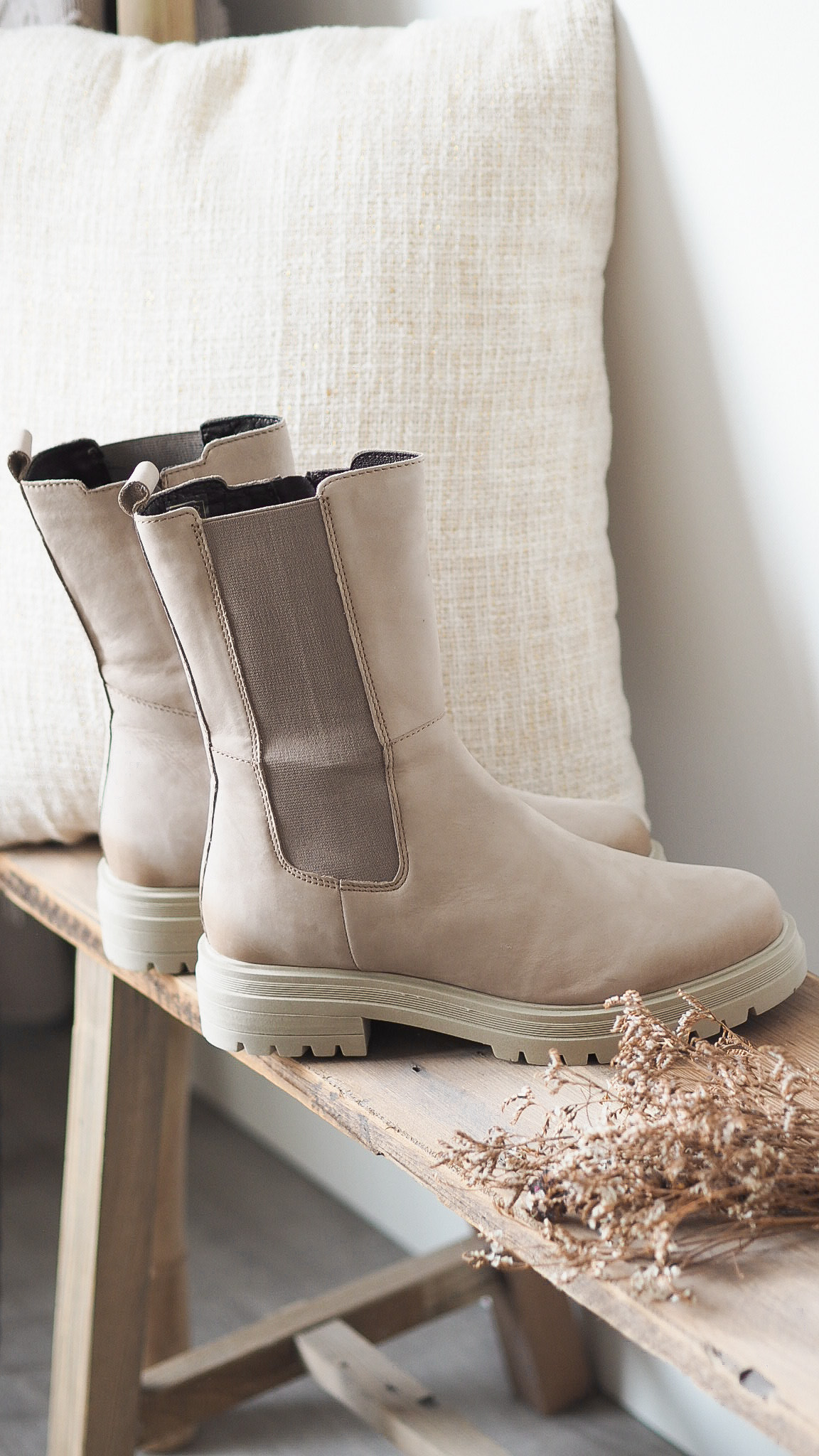 Cellini Hoge chelsea boots taupe